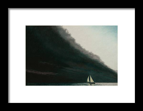 Sailing Framed Print featuring the painting Shadow Work by Allan OMarra