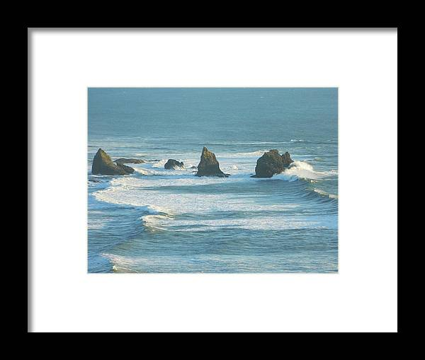 Oregon Framed Print featuring the photograph Shadowed Waves by Gallery Of Hope
