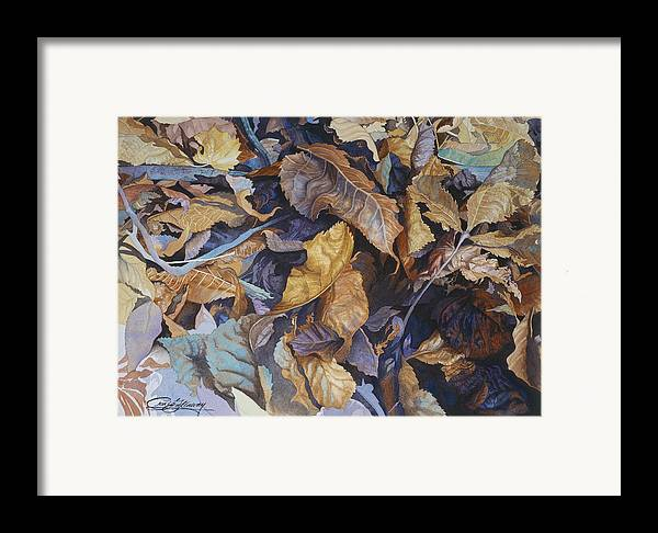 Autumn Framed Print featuring the painting Shadowland by Craig Gallaway