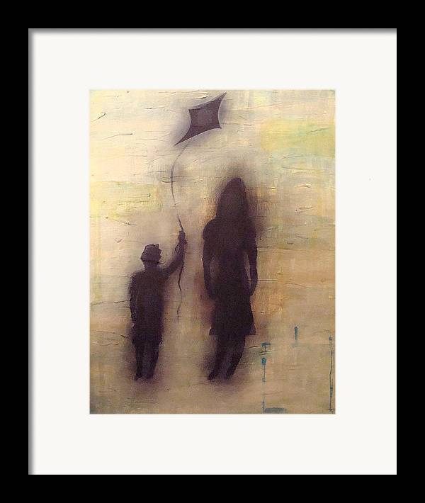 Abstract Framed Print featuring the painting Shadows 2 by W Todd Durrance