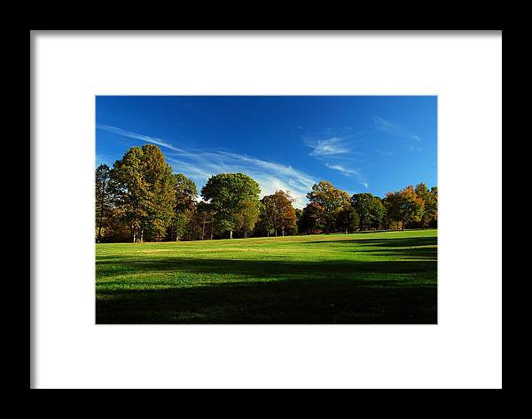 Fields Framed Print featuring the photograph Shadows And Trees Of The Afternoon - Monmouth Battlefield Park by Angie Tirado