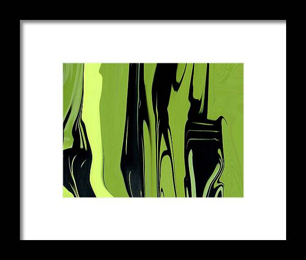 Abstract Framed Print featuring the digital art Shadows Can Talk I by Florene Welebny