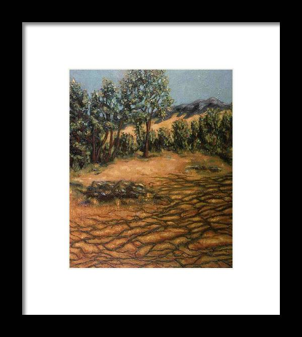 Trees Framed Print featuring the painting Shadows by Helen O Hara