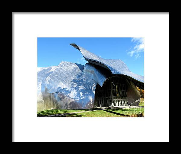 Architecture Framed Print featuring the photograph Shadows by Maxine Kamin