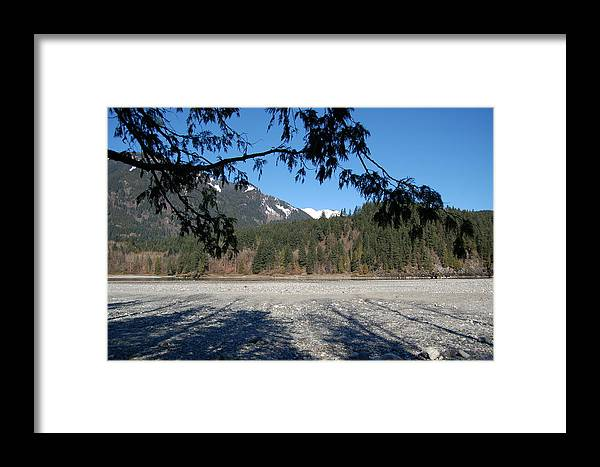 River Framed Print featuring the photograph Shadows On The Coquihalla River by J D Banks