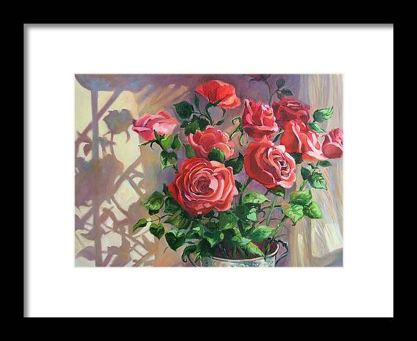 Oil Painting Framed Print featuring the painting Shadows On The Wall by Dianna Willman