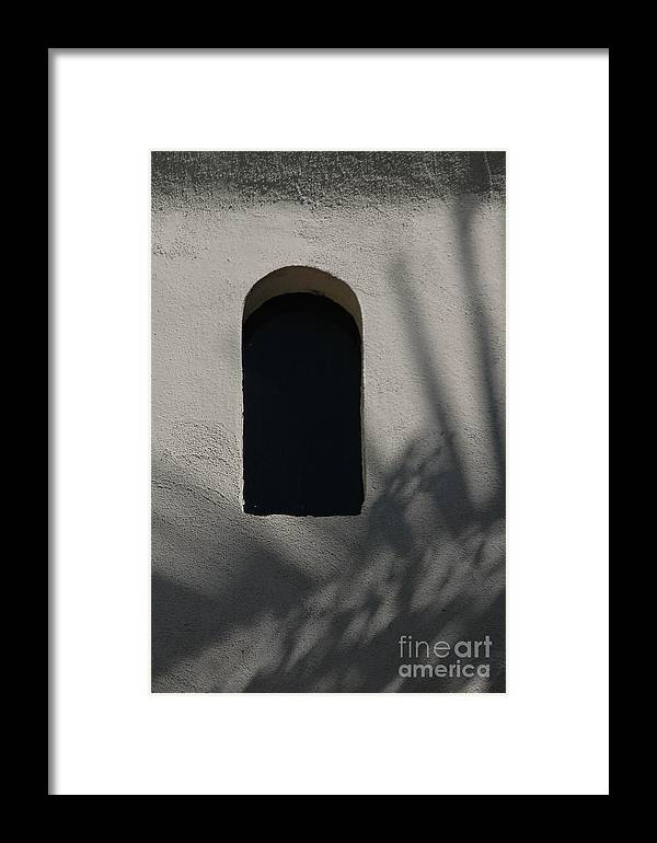 Window Framed Print featuring the photograph Shadows On The Wall by Michael Ziegler
