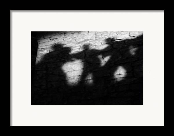 Wall Framed Print featuring the photograph Shadows On The Wall Of Edinburgh Castle by Christine Till