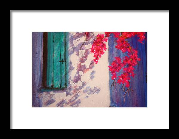 Shadows Framed Print featuring the painting Shadows by Yvonne Ayoub