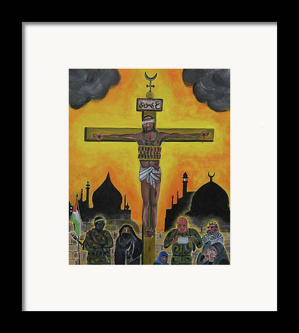 Shahid Framed Print featuring the painting Shahid Or Martyr by Darren Stein