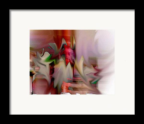 Abstract Framed Print featuring the digital art Shake by Dave Kwinter