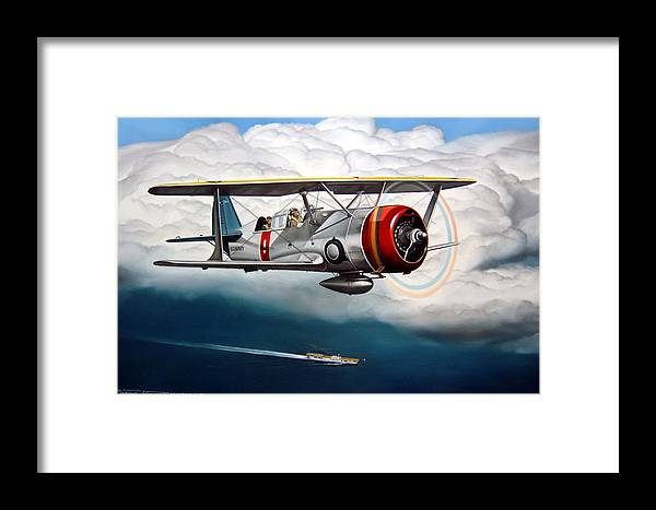 Aviation Framed Print featuring the painting Shakedown Cruise by Marc Stewart