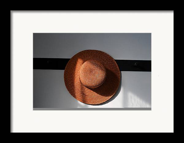 Shaker Framed Print featuring the photograph Shaker Hat by Lone Dakota Photography
