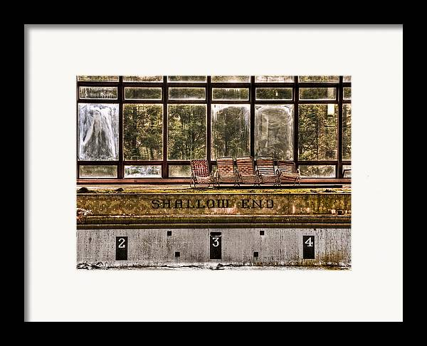 Abandoned Framed Print featuring the photograph Shallow End by Evelina Kremsdorf