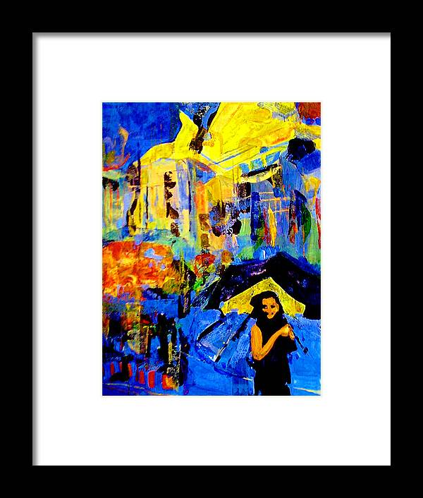 Artwork Framed Print featuring the painting Shalom Manhattan by Maya Green