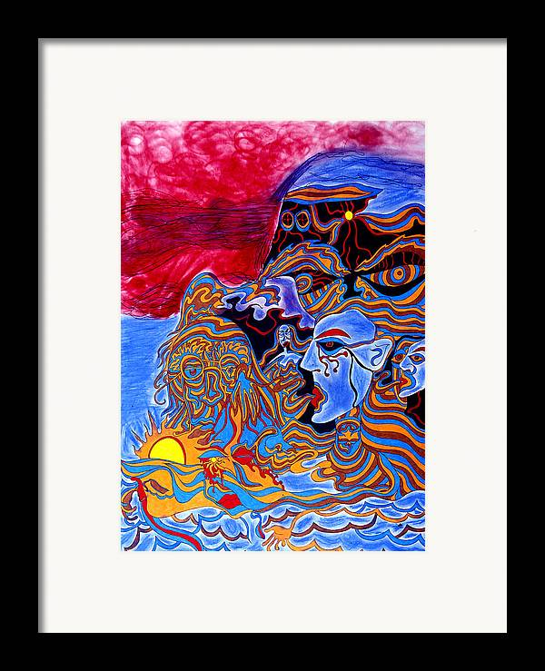 Abstract Framed Print featuring the print Shaman Of The Red Sky by William Watson