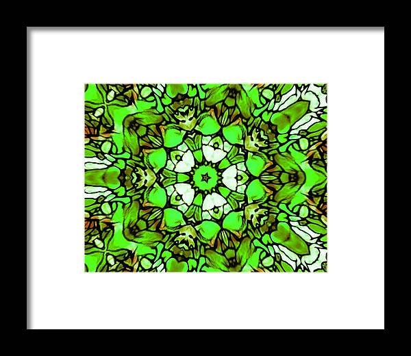 Shamrock Pattern Framed Print featuring the pastel Shamrock Pattern by Brenae Cochran