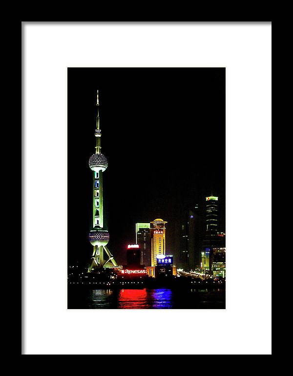 China Framed Print featuring the photograph Shanghai by James Burton
