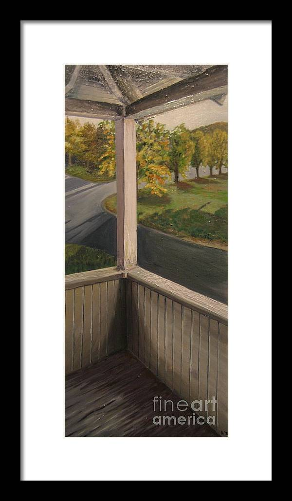 Porch Framed Print featuring the painting Shannon Street Porch by Kayla Race
