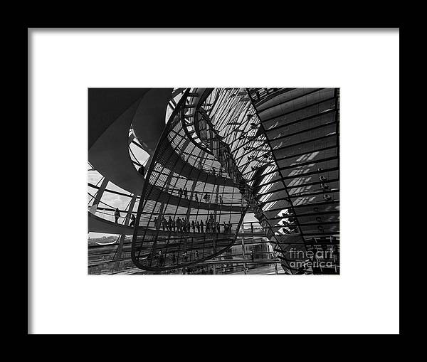 Germany Framed Print featuring the photograph Shapes In Berlin 2 by Bruce E Dall