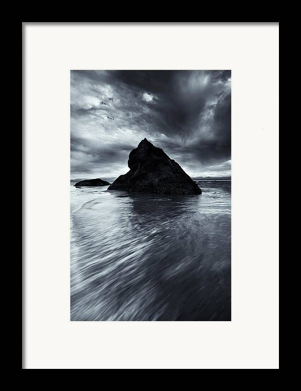 Seastack Framed Print featuring the photograph Shaping The Heavens by Mike Dawson