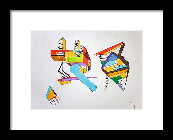 Damien Framed Print featuring the drawing Shard by Damien McCabe