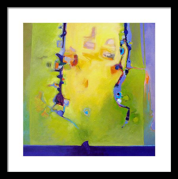 Abstract Framed Print featuring the painting Sharks Teeth by Dale Witherow