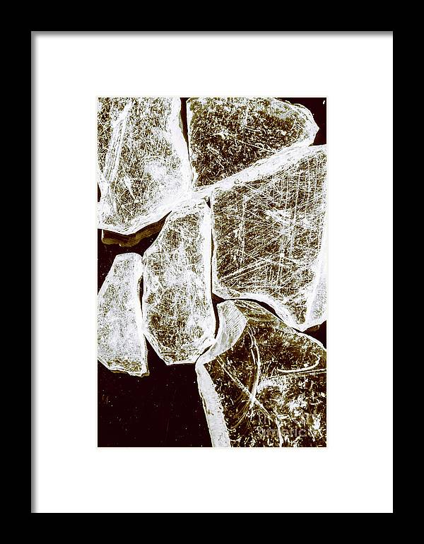 Damage Framed Print featuring the photograph Shattering Shards by Jorgo Photography - Wall Art Gallery