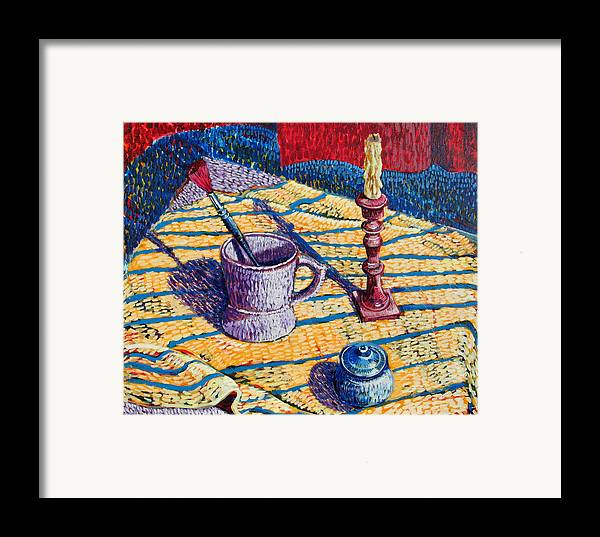 Still Life Framed Print featuring the painting Shaving Mug by Rollin Kocsis