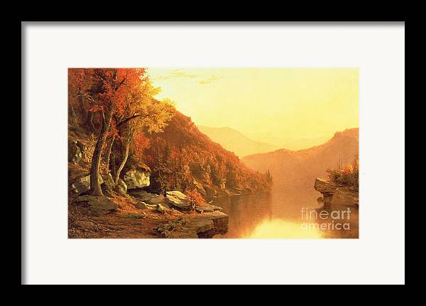 Shawanagunk Mountains Framed Print featuring the painting Shawanagunk Mountains by Jervis McEntee
