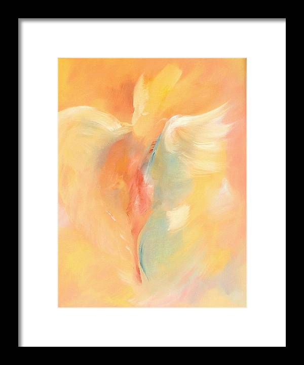 Abstract Painting Framed Print featuring the painting Shawl Lady by Zoe Landria