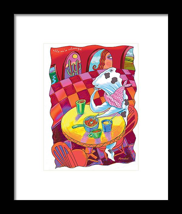 Whimsical Framed Print featuring the digital art She Changed Me by Annabel Lee
