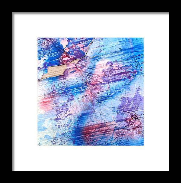 Abstract Framed Print featuring the painting She Hears The Poems Of The Sea by Bruce Combs - REACH BEYOND
