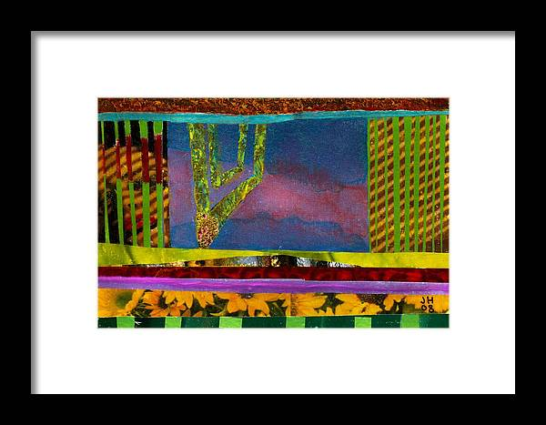 Collage Framed Print featuring the painting She Loves Me She Loves Me Not by Jerry Hanks