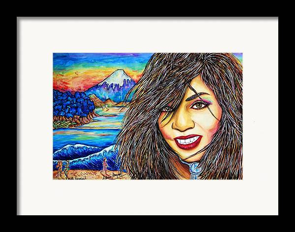 80's Framed Print featuring the mixed media She Survived by Joseph Lawrence Vasile