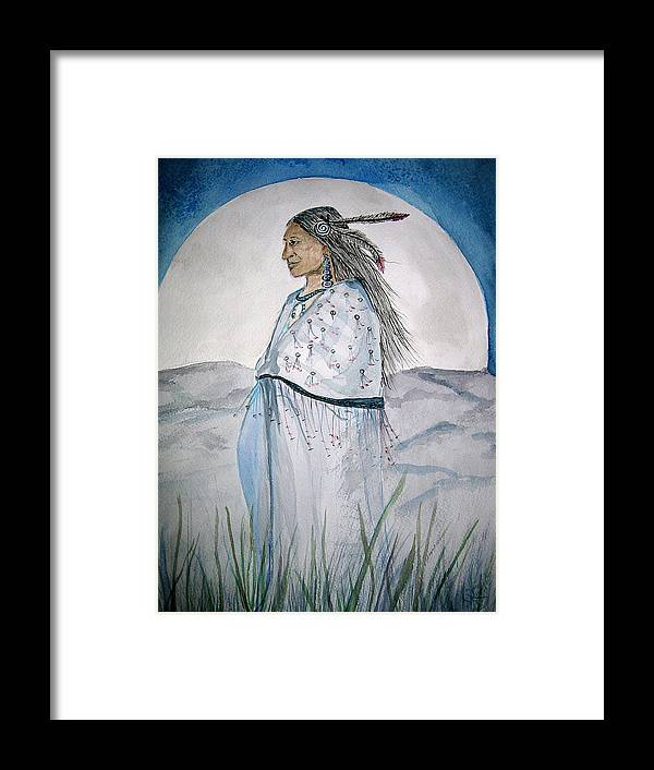 Original Art Framed Print featuring the painting She Walks At Night by K Hoover