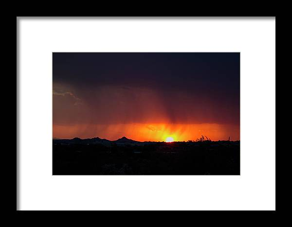 Arizona Framed Print featuring the photograph Shea Sunset by Cathy Franklin