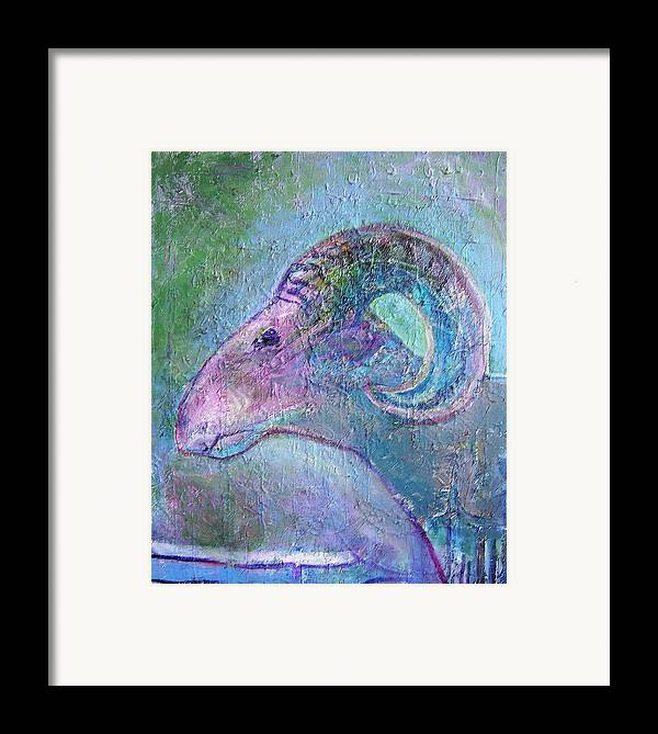 Sheep Animals Framed Print featuring the painting Sheep by Dave Kwinter