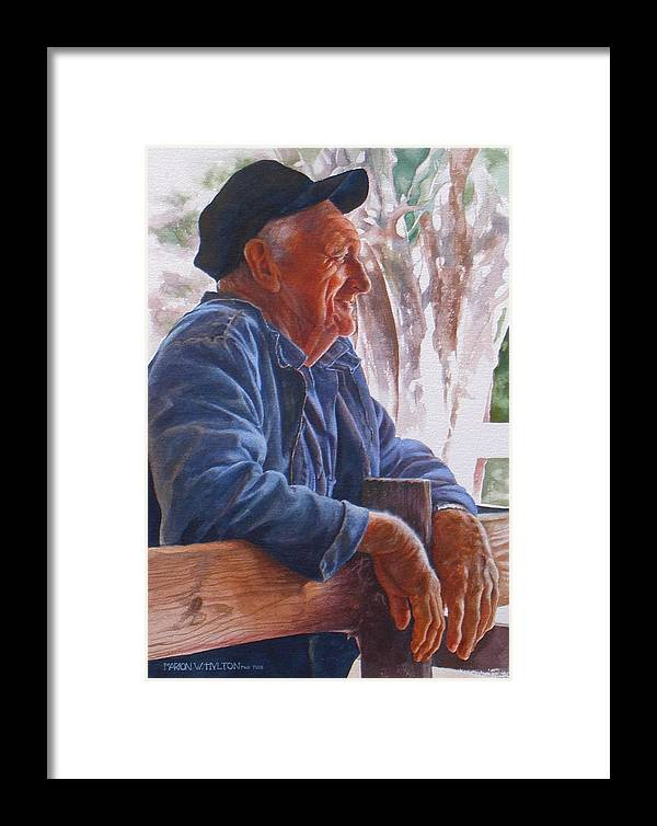 Rancher Framed Print featuring the painting Sheepman by Marion Hylton