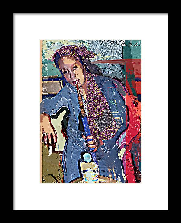 Portrait Framed Print featuring the mixed media Sheesha by Noredin Morgan