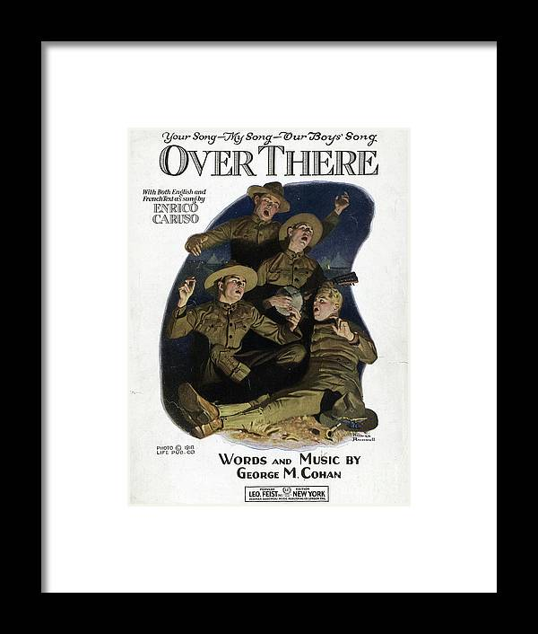 1917 Framed Print featuring the drawing Sheet Music Cover, 1918 by Norman Rockwell