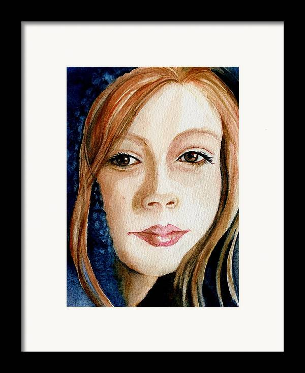 Portrait Commission Framed Print featuring the painting Shel by L Lauter