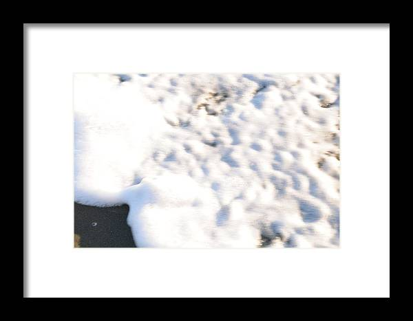 Beach Shell Sand Sea Ocean Framed Print featuring the photograph Shell And Waves Part 4 by Alasdair Turner