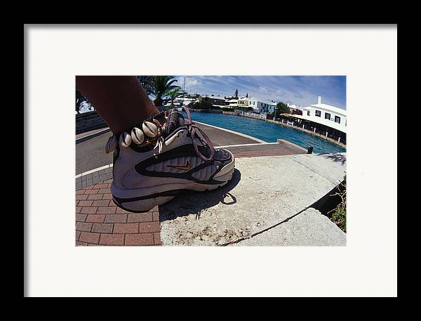 Nike Framed Print featuring the photograph Shell Ankle Bracelet by Carl Purcell