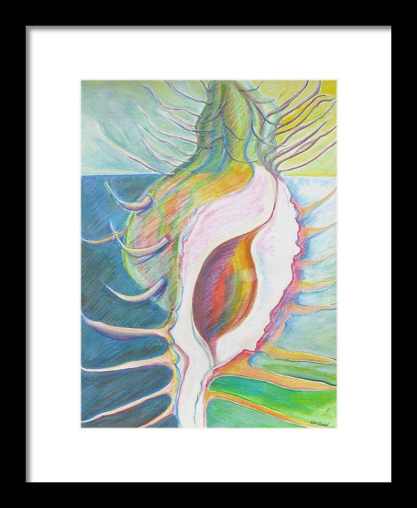 Fantasy Framed Print featuring the painting Shell Metamorphosis by Kathy Mitchell