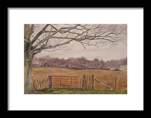 England Framed Print featuring the painting Shelter by Debbie Homewood