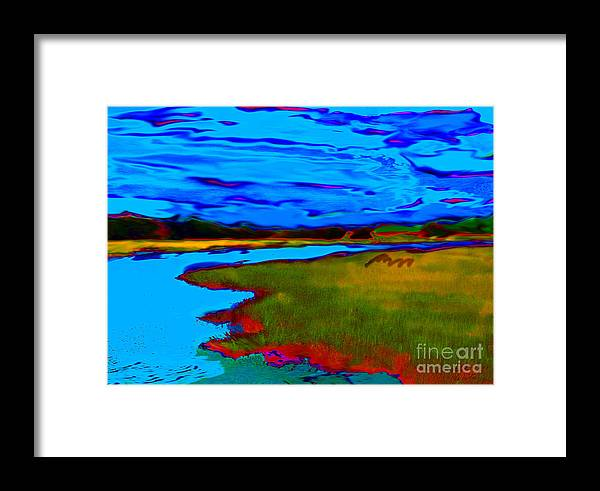 Landscape Framed Print featuring the painting Shem Creek by Everett White