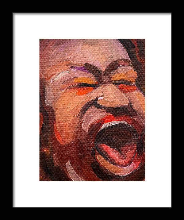 Blues Musician Framed Print featuring the painting Shemikia Copeland by Jackie Merritt
