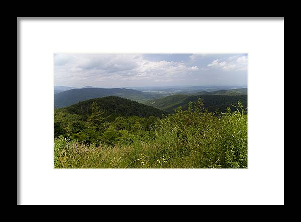 Shenandoah Framed Print featuring the photograph Shenandoah National Park - Skyline Drive by Christina Durity