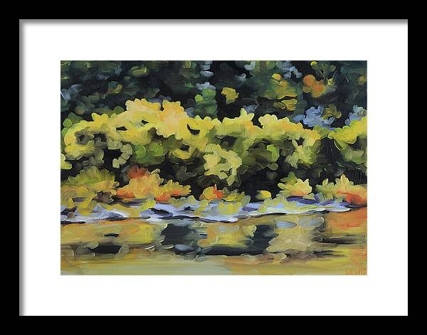 Shenandoah River Framed Print featuring the painting Shenandoah River Bank by Anne Lewis